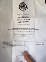 Jazz fest certificate for two tickets to any show!!