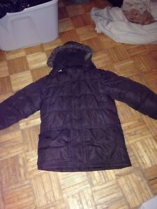 SIZE 14-16 BROWN PARKA STYLE WINTER COAT