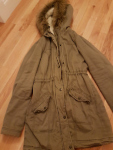Hollister Army Green Winter Jacket