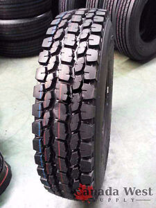 NEW 11R24.5 11R22.5 16 PLY SEMI TRUCK TRAILER STEER TIRES DRIVE Edmonton Edmonton Area image 1