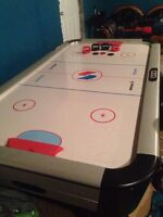 Full size air hockey and foosball tables
