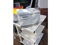Beauty 3 tier trolley, heat lamp and towel heated cabinet