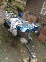 16 ft Princecraft 30hp Johnson and trailer