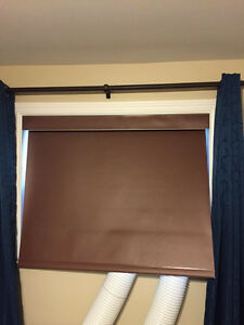 Brown blackout curtain