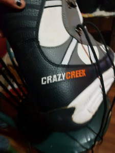 Firefly snow borad with firefly bindings and crazy creek boots