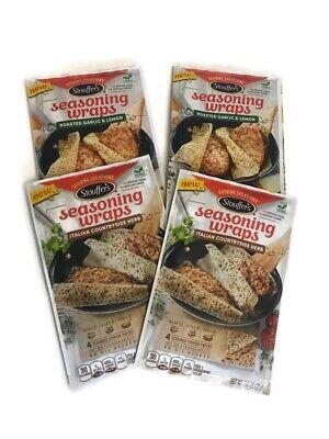4 Stouffers Seasoning Wraps 2 Roasted Garlic & 2 Italian Country Best by