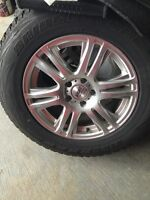 245-65-17 Winter tires and alloy wheels