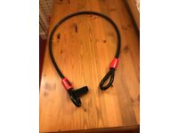Bicycle lock with separate long cable.