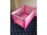 Pink Travel baby Cot