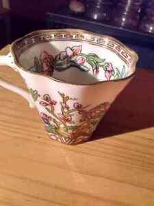 Coalport tea cup handpainted unique pattern