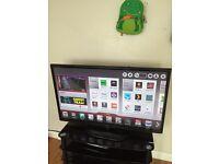 "LG 50""smart wifi 3 D TV mint condition"