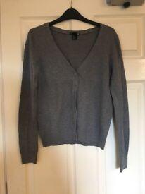 H&M Cardigan - Grey Size Small