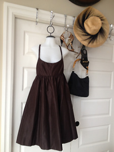 Chocolate Brown open back dress size 2