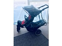 Phil & Teds Dot with accessories double buggy