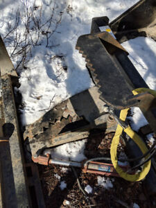skid steer tree shears attachment