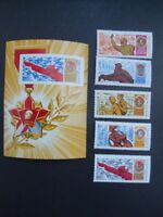 1968-RUSSIA-Soviet Leader Lenin Youth Souvenir Sheet With Stamps