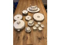Wedgwood complete Osborne dinner set - pristine condition - bone china