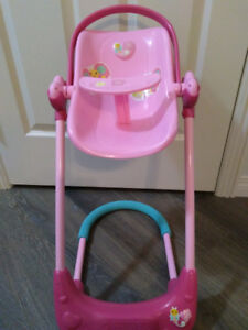Doll swing, car seat and high chair