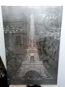 Large Eiffel tower wall picture