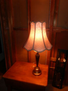 VINTAGE BRASS LAMPS WITH CUSTOM SHADES