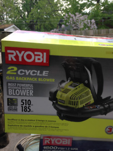 brand new ryobi gas backpack blower