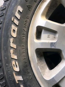 6 bolt GMC Rims w/ BF GOODRICH All Terrain 265 70R17