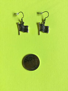 USA Flag Charm Earrings #1