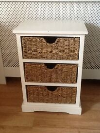 3 Drawer Cream Painted Cabinet