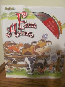 Farm Animal Hardcover and pages Book with CD
