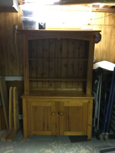 Handmade Solid Wood Hutch style wall unit