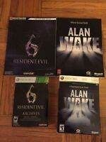 Xbox 360 Resident Evil 6 Alan Wake Limited edition + guides
