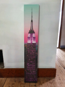 Cadre Empire State Building Rose | Pink NYC Print