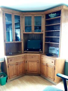 Tall,oak , cabinets for sale