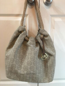 micheal kors clothe canvas handbag BAG # 17