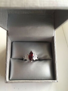 BEAUTIFUL***Ruby Red Sapphire 10kt White Gold Filled Ring! Edmonton Edmonton Area image 1