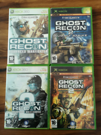 4 XBOX Ghost Recon games