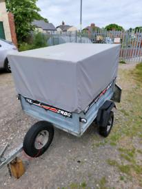 Erde 122 trailer with caged high side kit