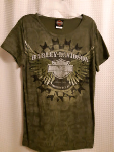 Ladies Harley Davidson t shirt size large