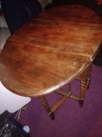 Oak wood folding dinning table for sale