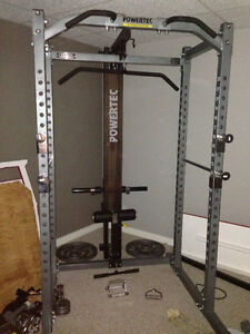 Power Tec Gym Equipment (power rack, high-low pulley, bench...)