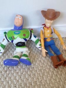 TOY STORY Buzz Lightyear and Woody plush dolls