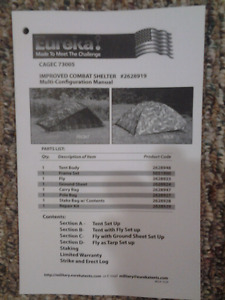 US Military One Man Combat Shelter/Tent (Woodland Camo)