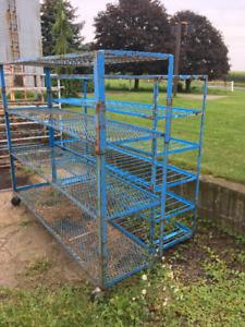 Metal shelves on wheels - Idea for workshop, garage....
