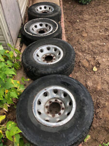 4 summer rims and tires for Ford truck