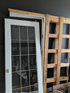 "32"" French Glass Pocket Door"