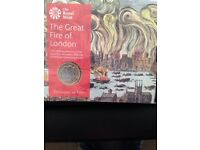 The great fire of London coin