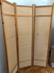 """Three-panel privacy screen or partition (3 panels of 70"""" by 18"""")"""