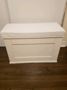 White Bench with Storage