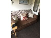 Brow 3 seater sofa and sofa bed