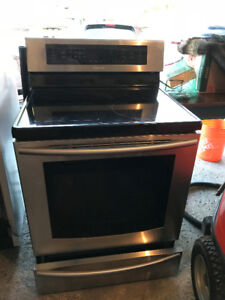 Samsung induction stove w dual oven, stainless steel finish